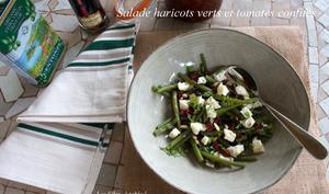 Salade de haricots verts, tomates confites et brebis