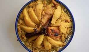 Tajine de poulet aux coings