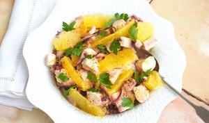 salade de poulpe mariné à l'orange