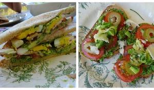 Sandwichs et tartines au tahin vert à ma façon