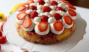 Moelleux fraise, vanille et citron