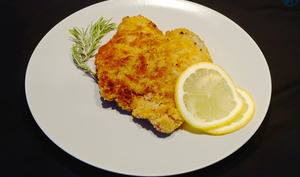 Schnitzel ou escalope de veau panée
