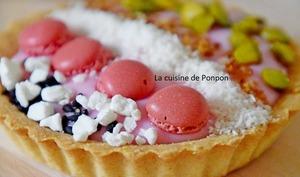 Tartelette à la crème rose