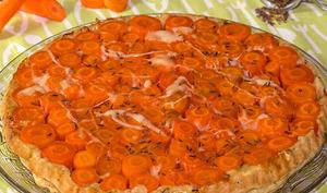 Tarte Tatin aux carottes et au Comté