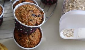 Muffin bananes et flocons d'avoine