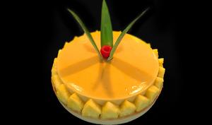 Tarte exotique ananas banane mangue