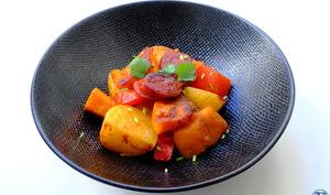 Poêlée espagnole chorizo potimarron