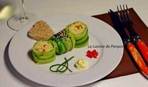 Maki de concombre au merlu
