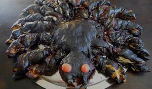 Monstrueuse araignée feuilletée au chocolat