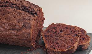 Gâteau du matin à l'aubergine et au cacao