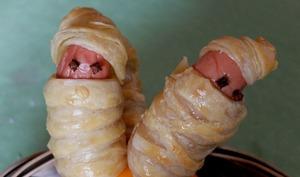 Feuilletés de saucisses momies