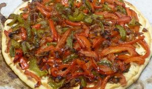 Tarte aux poivrons, chèvre et tomate séchée