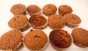 Muffins chocolat ultra praliné