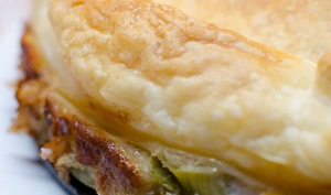 Tarte tatin aux artichauts, au jambon et au parmesan