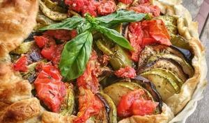 Tarte façon tian aux légumes d'été