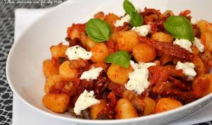 Gnocchi alla Sorrentina aux aubergines, tomates séchées et mozzarella di buffala