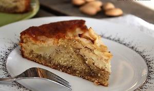 Gâteau aux pommes et crème d'amandes