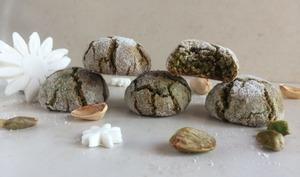 Les craquelés ou crinkles à la pistache