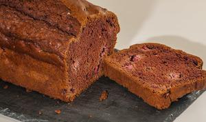 Gâteau du matin cacao framboises