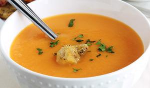 Velouté de potiron ou potimarron, carottes etpommes de terre