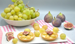 Tartelettes fromage frais raisins figue