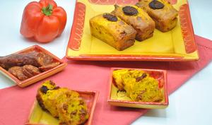 Cake chorizo poivron rouge