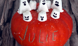 Guimauves vanille fantômes