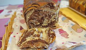 Pão Mármore de Chocolate