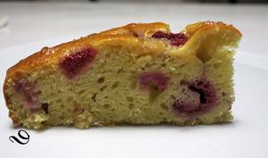 Gâteau aux framboises et à la ricotta