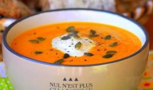 Soupe potiron carotte sans pomme de terre