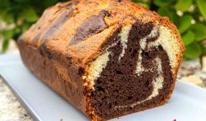 Cake marbré au yaourt de chèvre