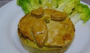 Tourte au chou kale, poireau, courgette et pignons grillés