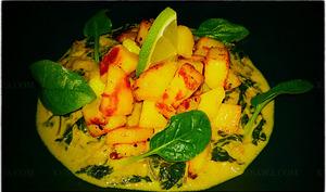 Curry aux pommes de terre et épinards