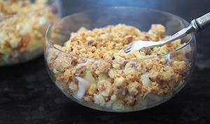 Salade d'endive en crumble croustillant