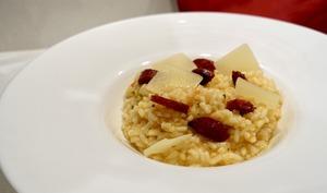 Risotto au chorizo et parmesan