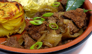 Carbonade flamande et mille feuilles de pommes de terre
