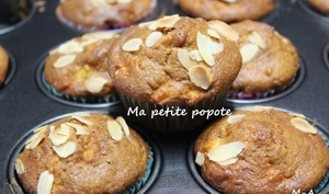 Muffins aux pommes et à la crème fraiche