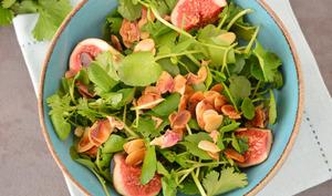 Salade de cresson aux amandes