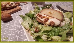 Pommes de terre au fromage de chèvre et noix