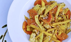 Légumes racines auxsaveurs asiatiques