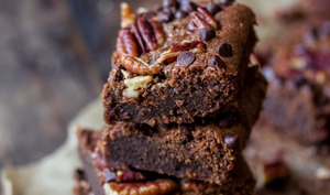 Brownie noix de pécan et chocolat vegan