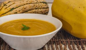 Soupe de courge butternut au poireau
