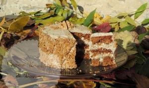 Cake douceur de noix & café