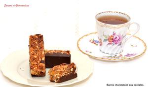 Barres chocolatées au Muesli et fruits secs