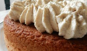 Gâteau à la crème marronnée