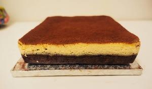 Brownie cheesecake pécan
