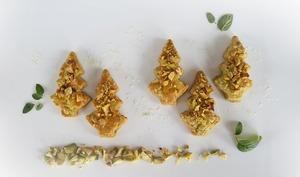Sablés salés pistache basilic