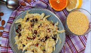 Salade de fenouil au millet et raisins secs