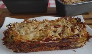 Croustillants de pommes de terre au bacon et parmesan