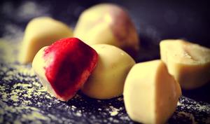 Bonbons de chocolat framboise rose